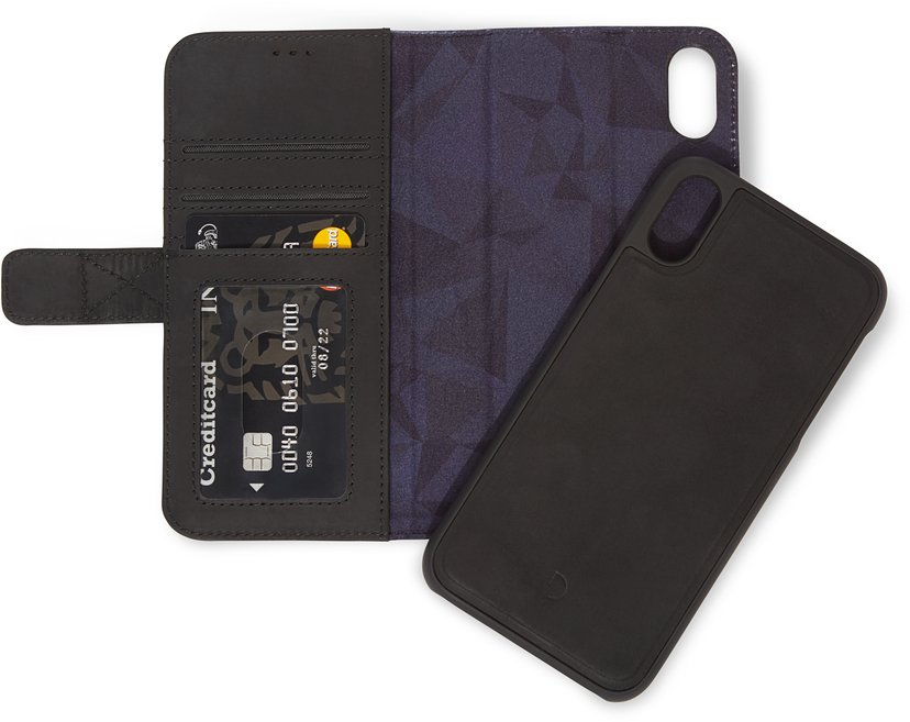 Decoded Decoded Detachable Wallet iPhone Xr Svart