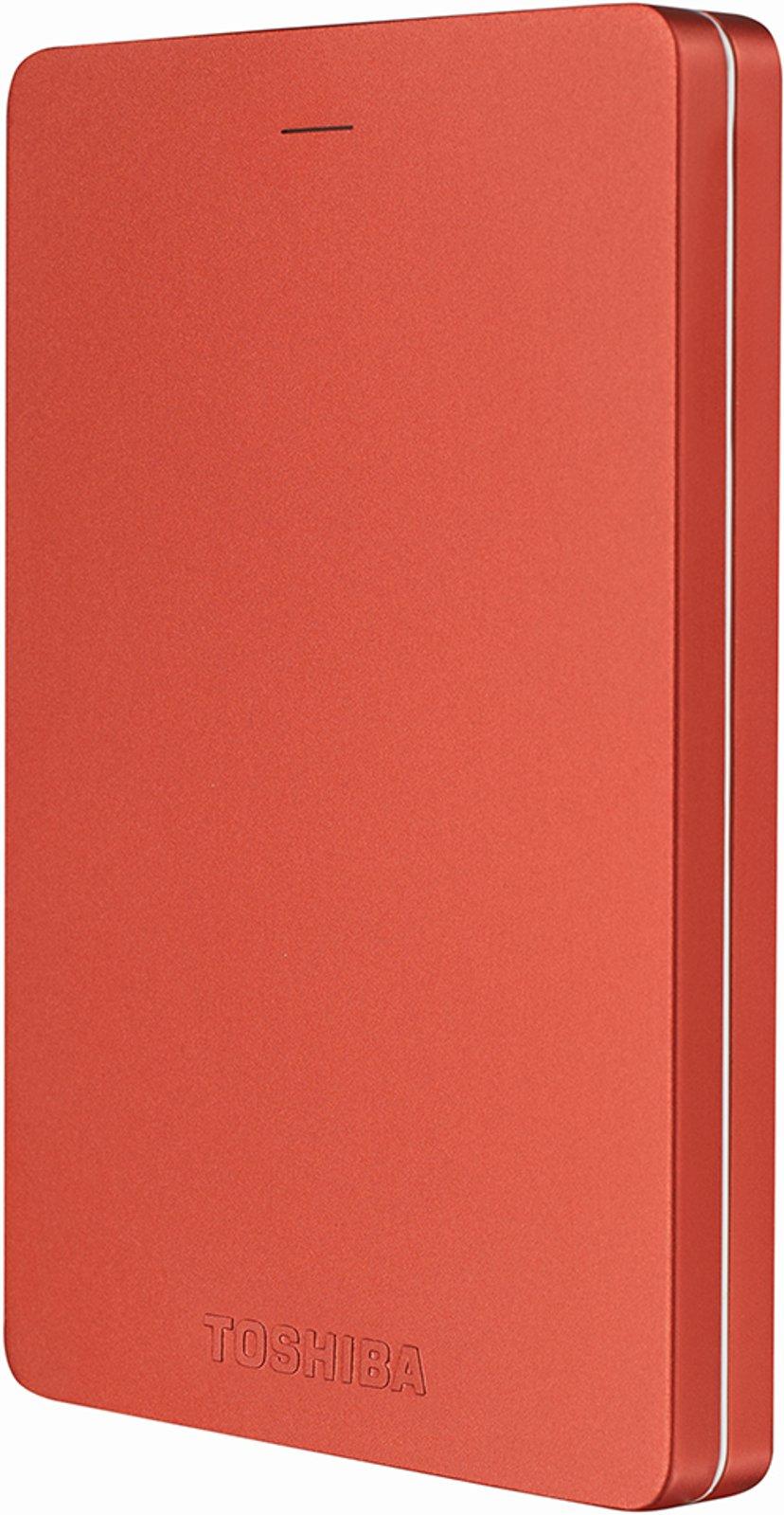 Toshiba Canvio Alu 1TB Rød