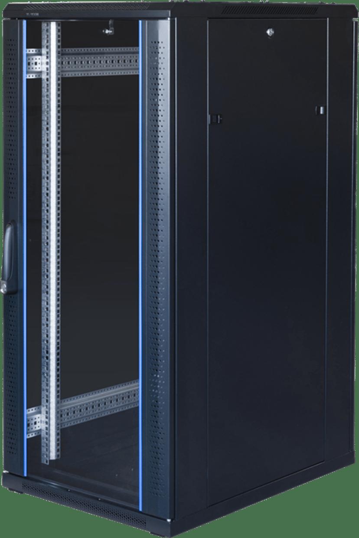 """Toten G6 19"""" Floor Cabinet 27U 600X800 Glas/Metal Door"""