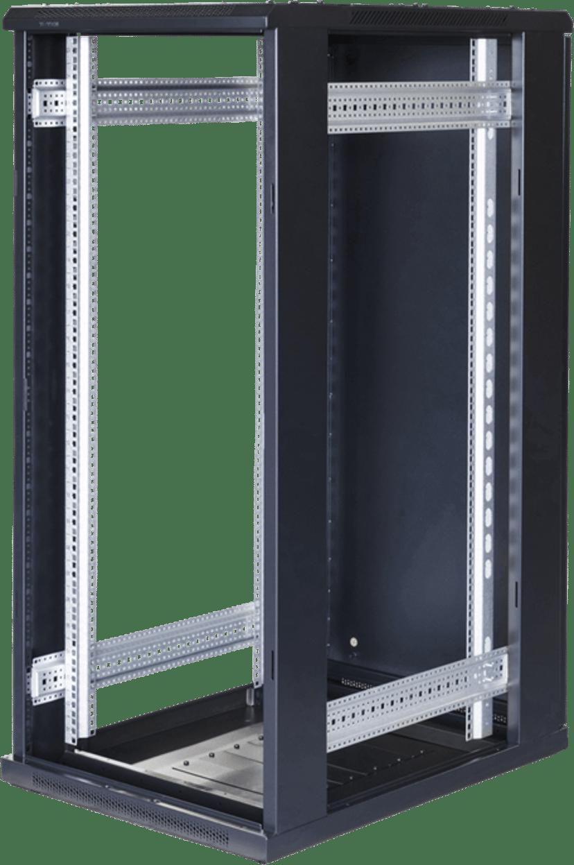 "Toten G6 19"" Rackskåp 27U 600x800 Glas/Metalldörr"