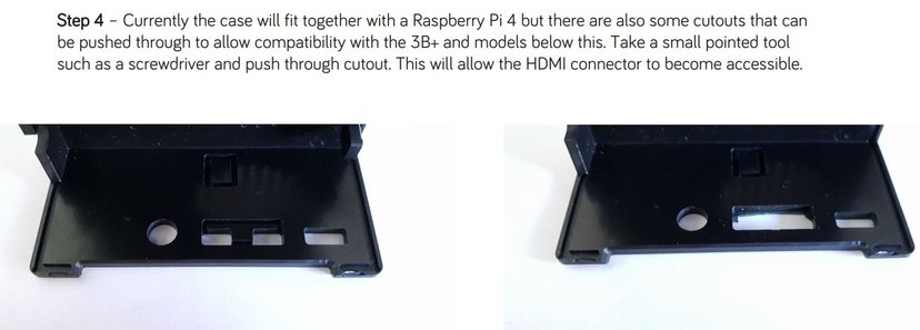 Rs Pro Raspberry Pi And Pi POE Hat Case Black