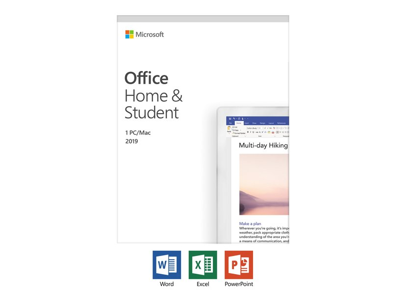 Microsoft Office 2019 Home & Student Norsk Medialess
