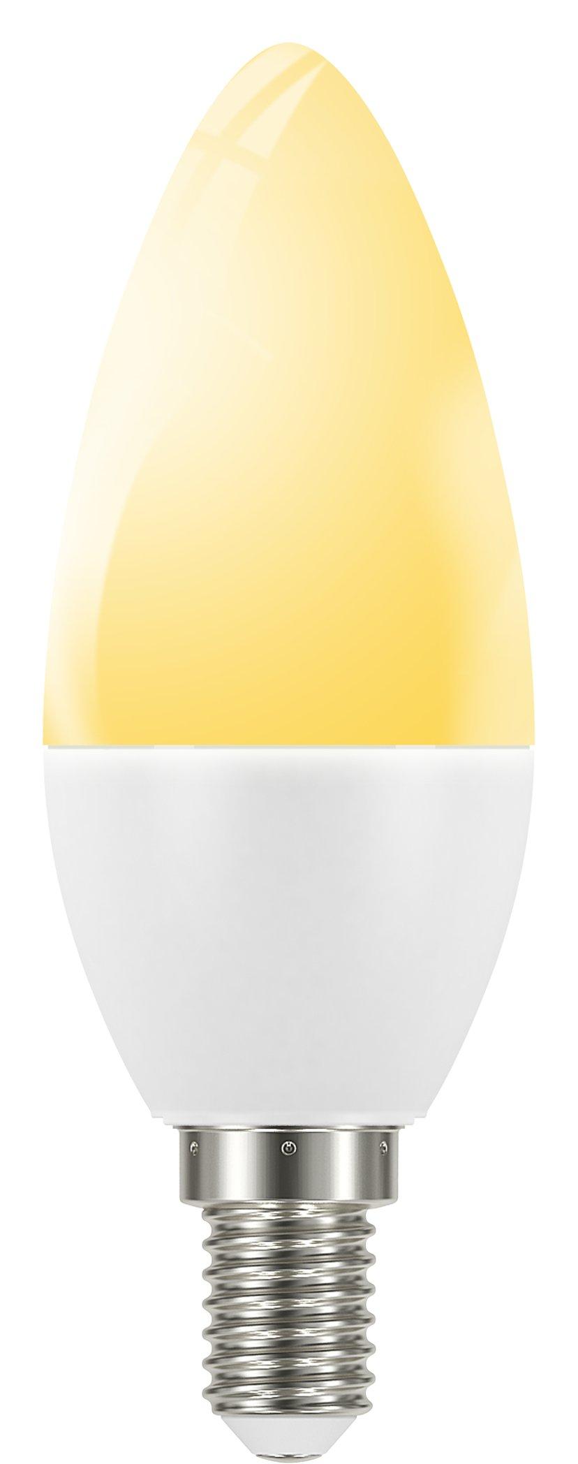 Smartline Flow Lamppu E14 6W, Himmennettävä, lämpimän valkoinen