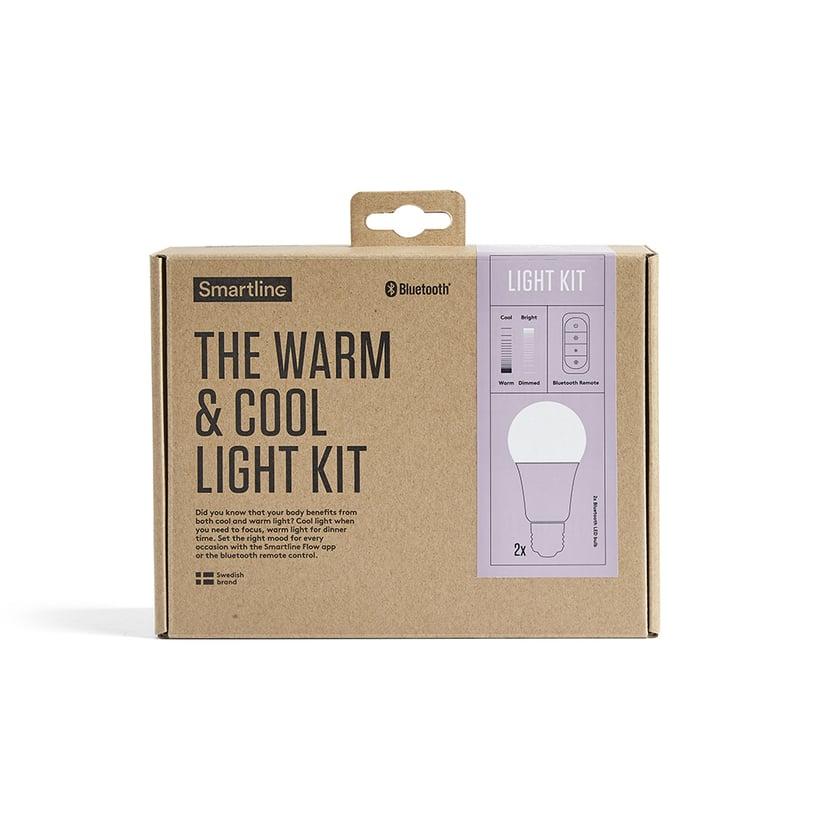 Smartline Flow Startsett Fjernkontroll + 2x E27 Lyspære Warm/Cool