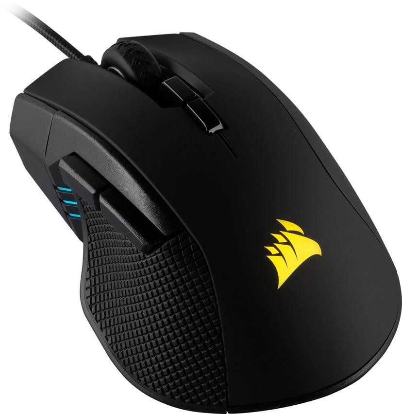 Corsair Gaming Ironclaw RGB Gaming Mouse 18,000dpi Mus Kablet Svart