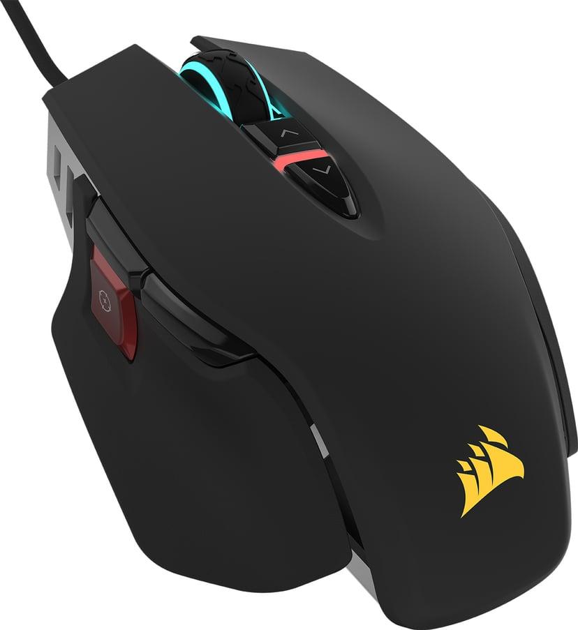Corsair Gaming M65 RGB ELITE 18,000dpi Muis Met bekabeling Zwart