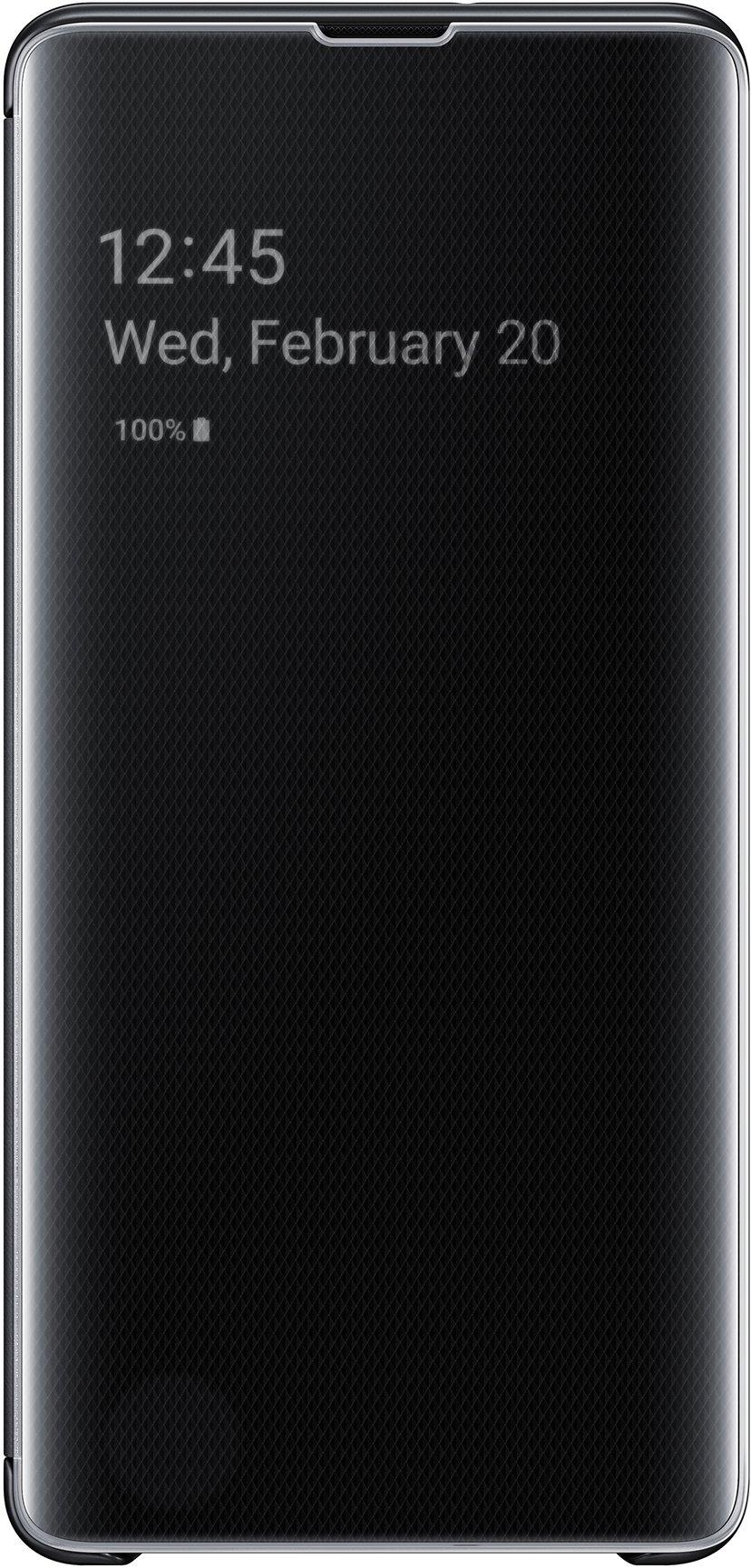 Samsung Clear View Cover EF-ZG975 Samsung Galaxy S10+ Musta