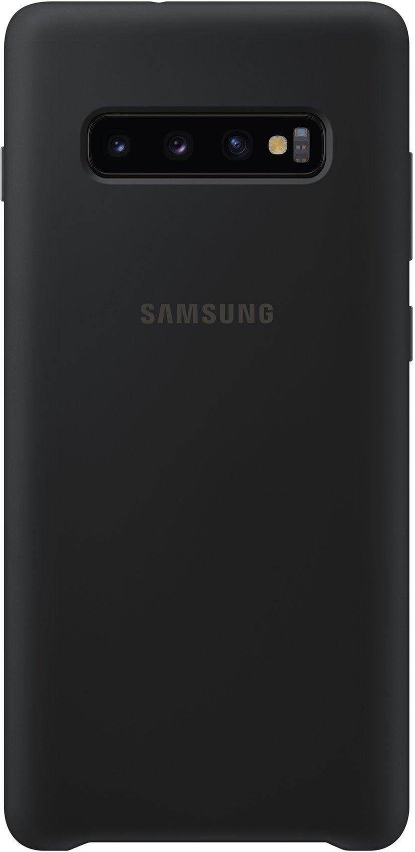 Samsung Silicone Cover EF-PG975 Samsung Galaxy S10+ Zwart