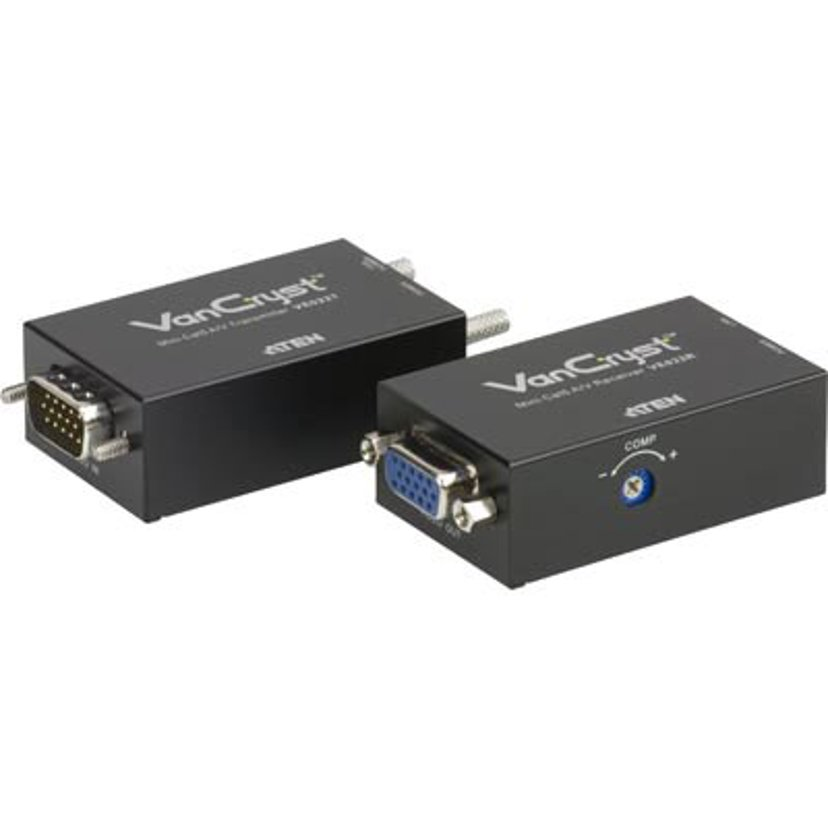 Aten Vancryst Ve022 Mini CAT 5 A/V Extender (Transmitter And Receiver Units)