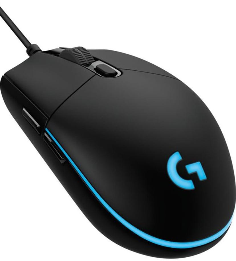 Logitech G Pro Gaming Mouse Hero Black 16,000dpi Muis Met bekabeling Zwart
