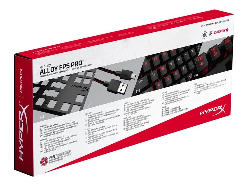 Kingston Hyperx Alloy Fps Pro Gaming Mx Red Kabelansluten Tangentbord Amerikansk Svart