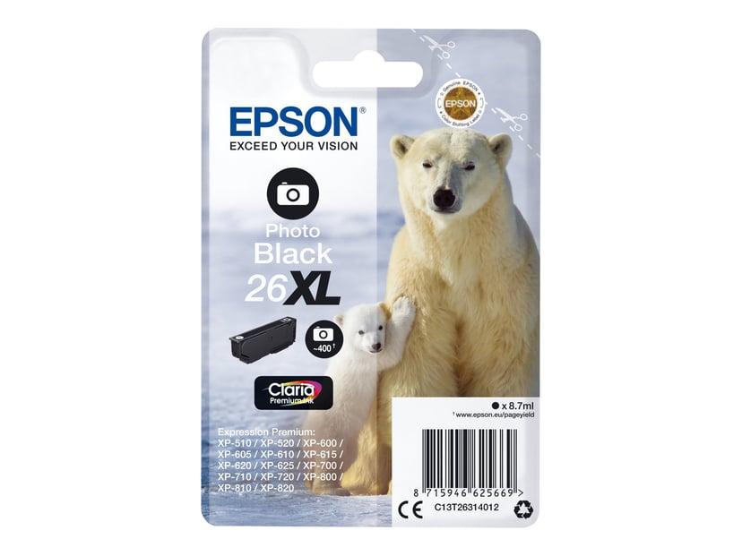 Epson Blekk Foto Svart 26XL Claria Premium
