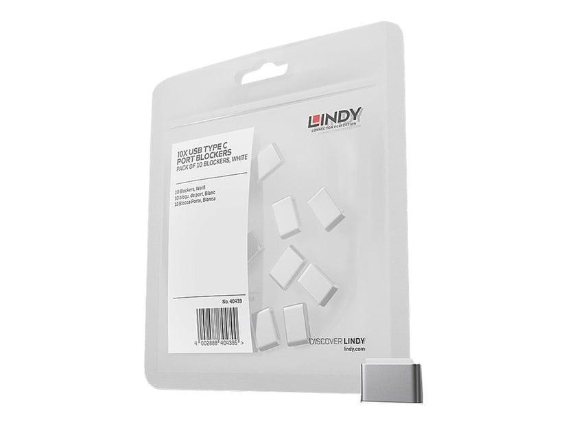 Lindy Port Blocker USB-C White 10-Pack Without Key