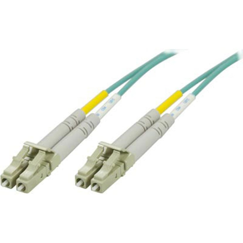 Deltaco Optisk fiberkabel LC/UPC LC/UPC OM3 2m
