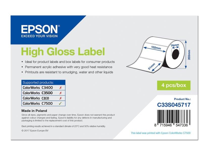 Epson Etiketter High Gloss Die-Cut 102x51mm