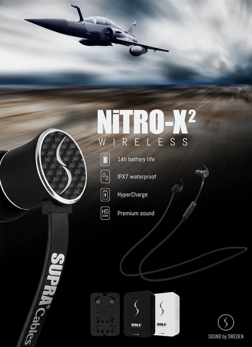 Jenving Supra NiTRO-X2 Trådlösa In-Ear