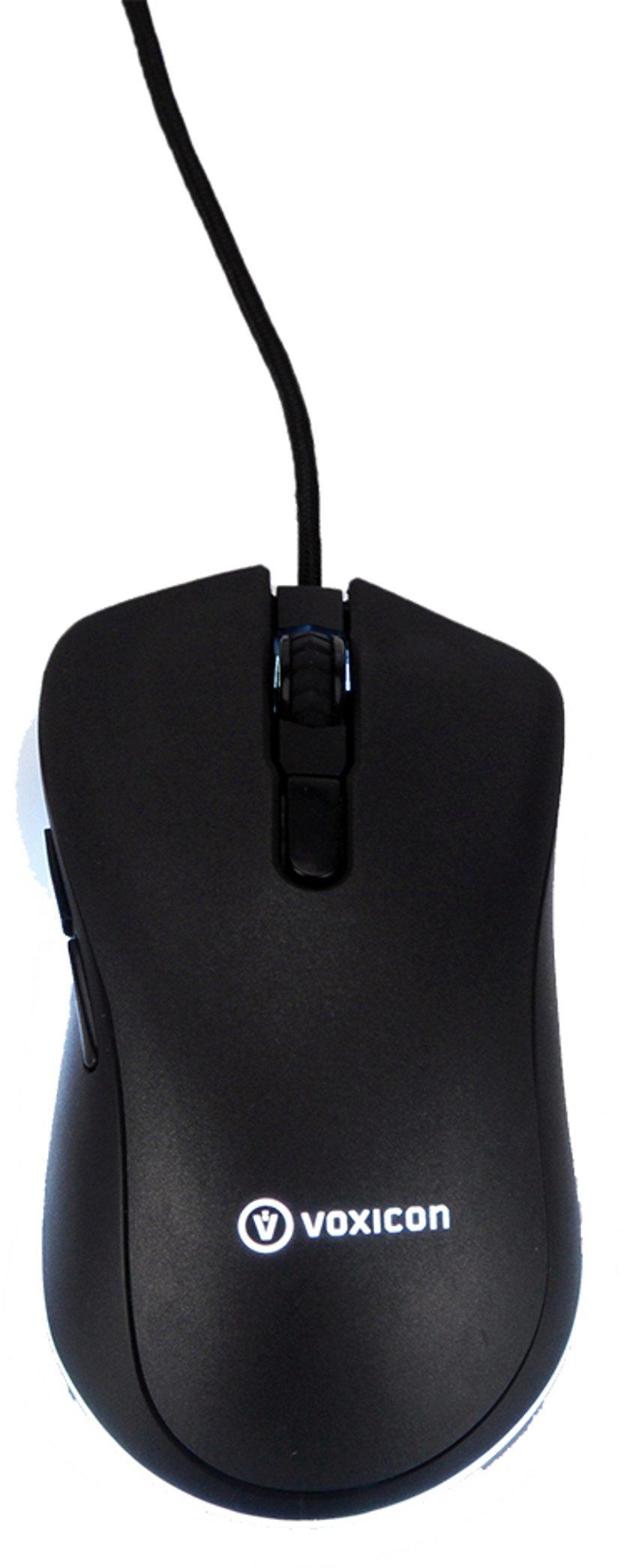 Voxicon Gaming RGB GR900 Zwart Muis Met bekabeling 12,000dpi