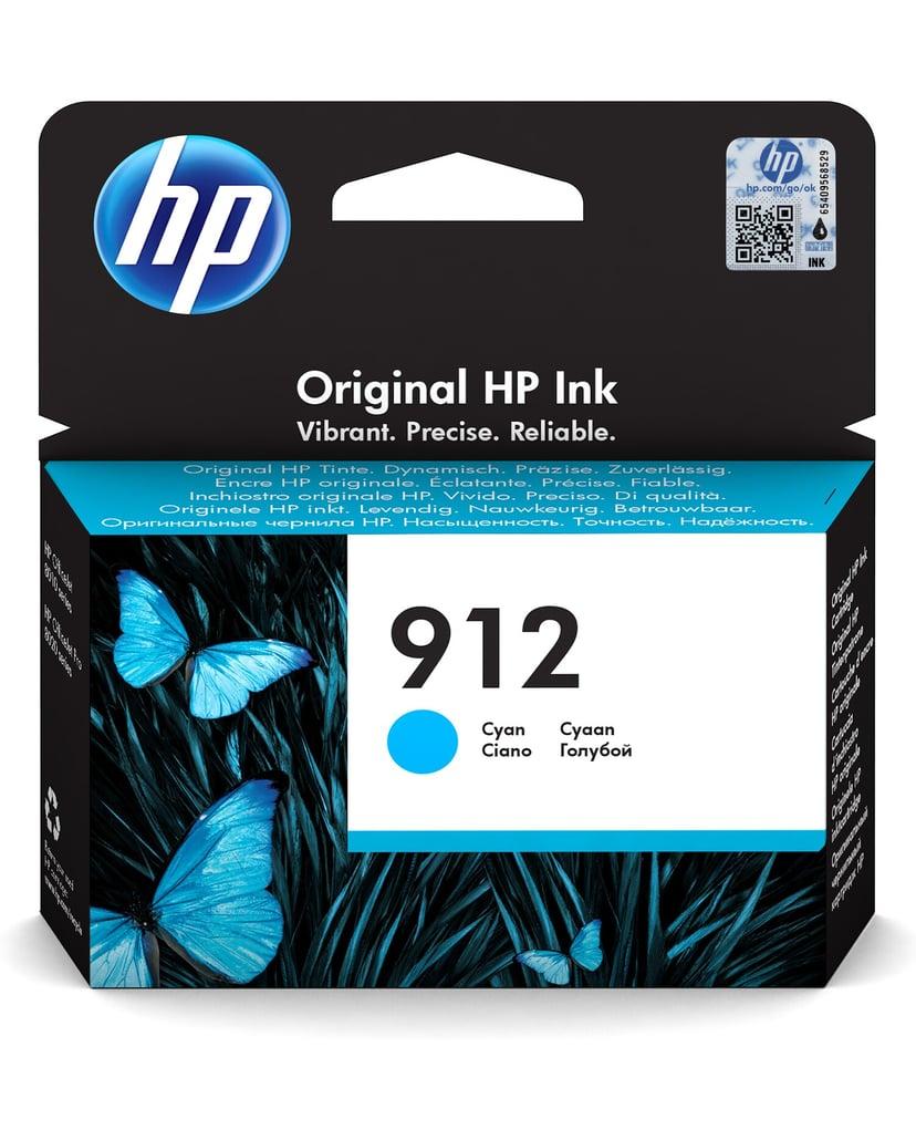 HP Bläck Cyan 912 315 Pages - OfficeJet Pro 8022/8024/8025