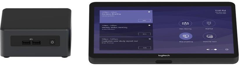 Logitech Tap baspaket (Microsoft Teams) med Intel NUC (Core i7), Logitech JumpStart (90 days)