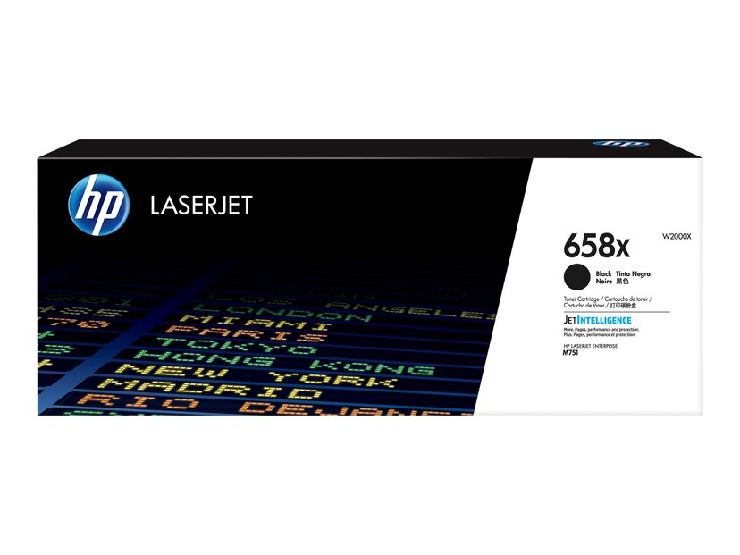 HP Värikasetti Musta 658X 33K - M751