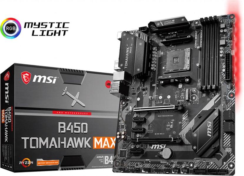 MSI B450 TOMAHAWK MAX ATX Moderkort