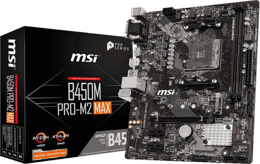 MSI B450M PRO-M2 MAX Micro-ATX Bundkort