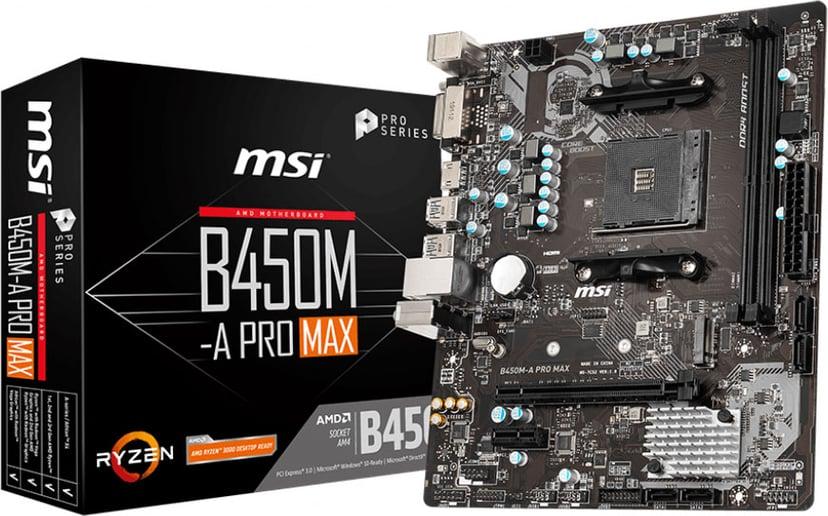 MSI B450M-A PRO MAX Micro-ATX Bundkort