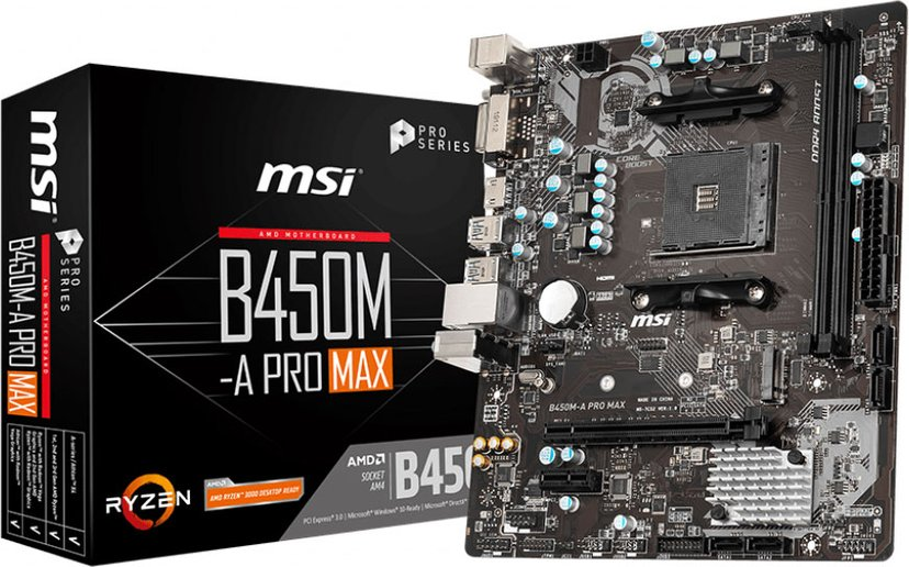 MSI B450M-A PRO MAX Mikro ATX Hovedkort