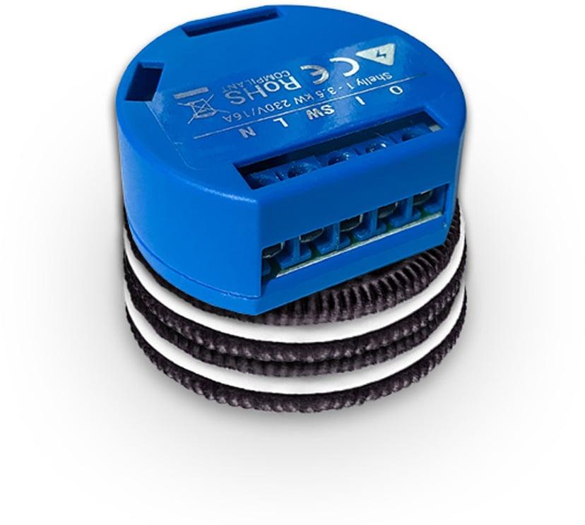 Shelly 1 WiFi enkanalig fjärrströmbrytare för inbyggnad