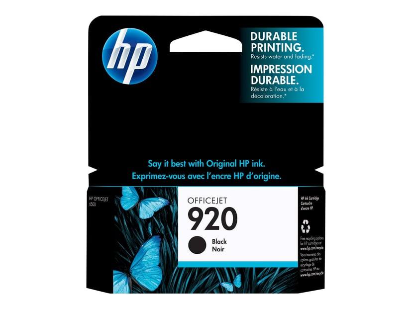 HP Bläck Svart 920 - OfficeJet 6000/6000 E609/6500/6500 E709
