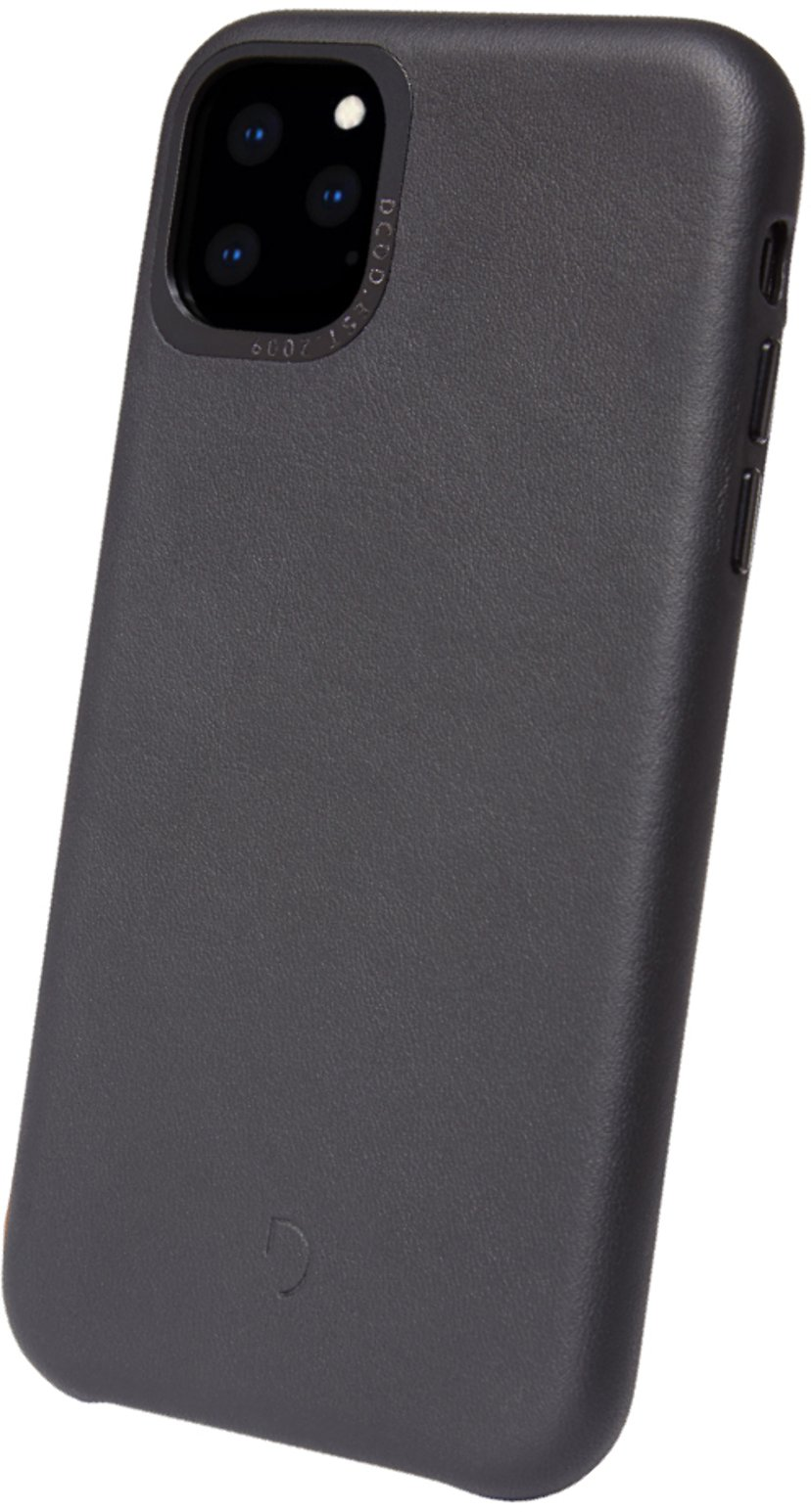 Decoded Leather Backcover iPhone 11 Pro Max Svart