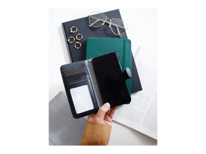 iDeal of Sweden Magnet Wallet+ Vikbart Fodral För Mobiltelefon iPhone 11, iPhone Xr Svart