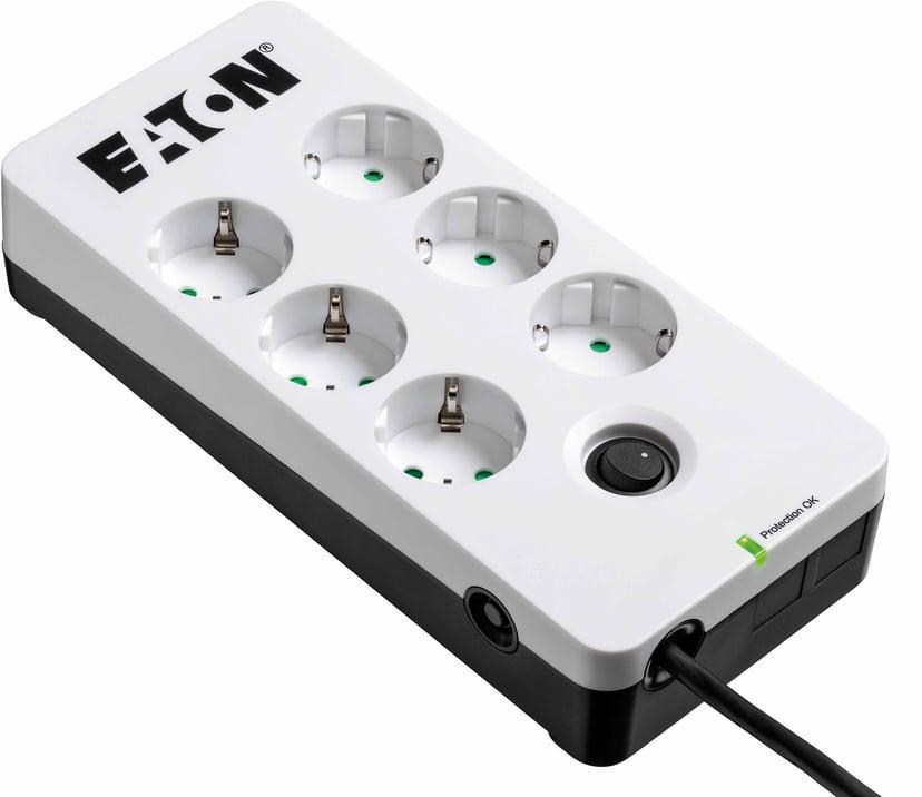 Eaton Protection Box 6 eluttag 10A Extern 6st Vit