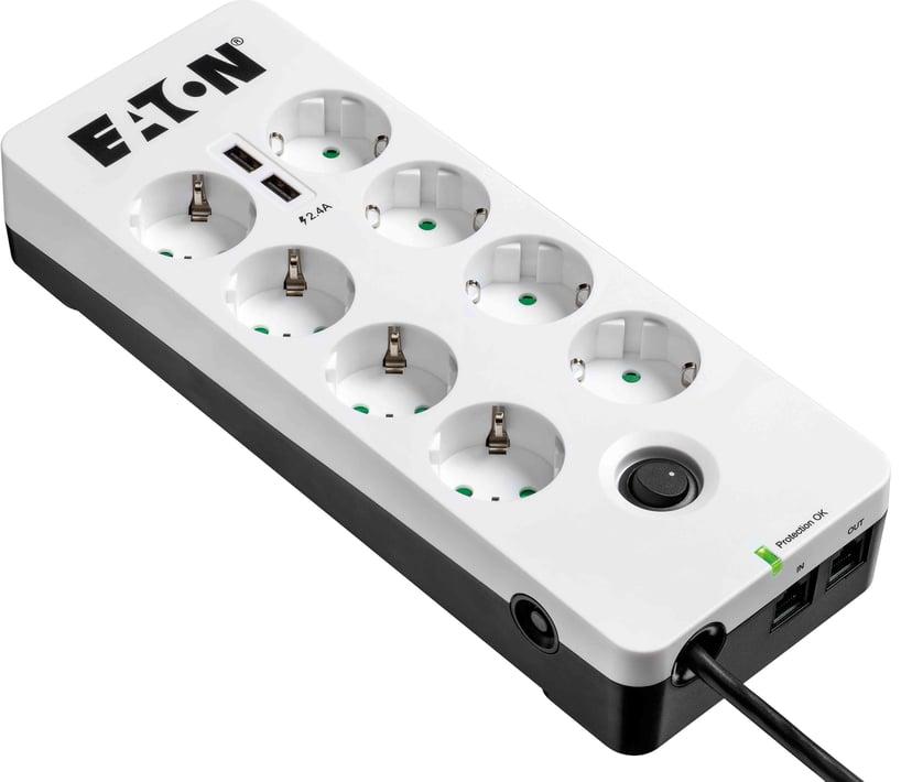 Eaton Protection Box 8 USB Tel@ Din 10A Extern 8stuks Wit