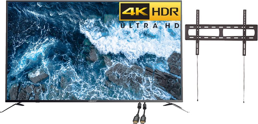 """Voxicon VXE355U 55"""" 4K ELED Smart Netflix HDR Konferenspaket"""