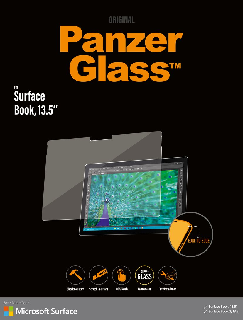 "Panzerglass Edge-to-Edge Microsoft Surface Book/Book2 13,5"""