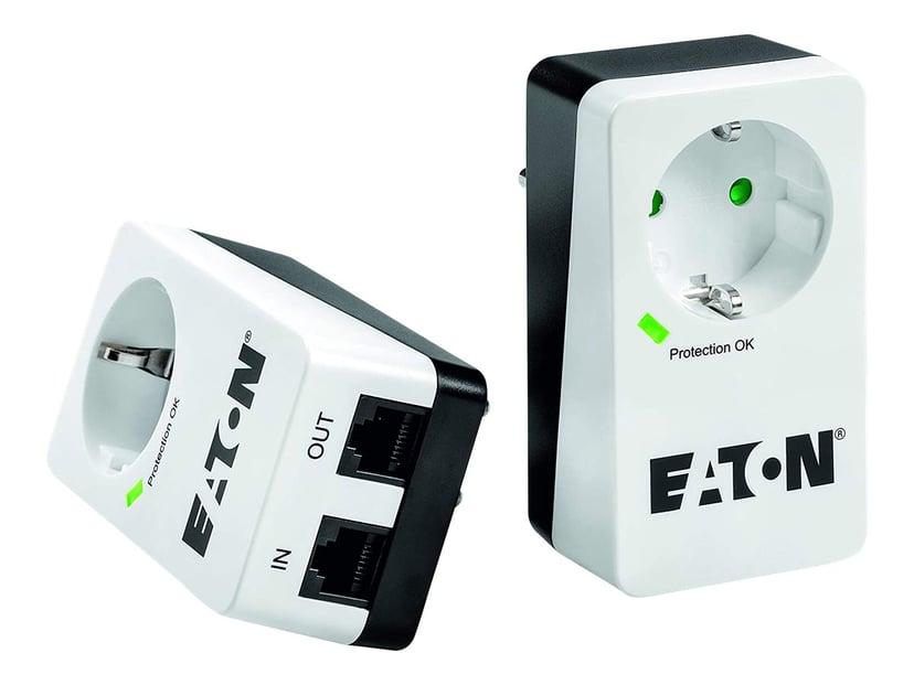 Eaton Protection Box 1 eluttag + 1 Tele 16A Extern 1st Vit
