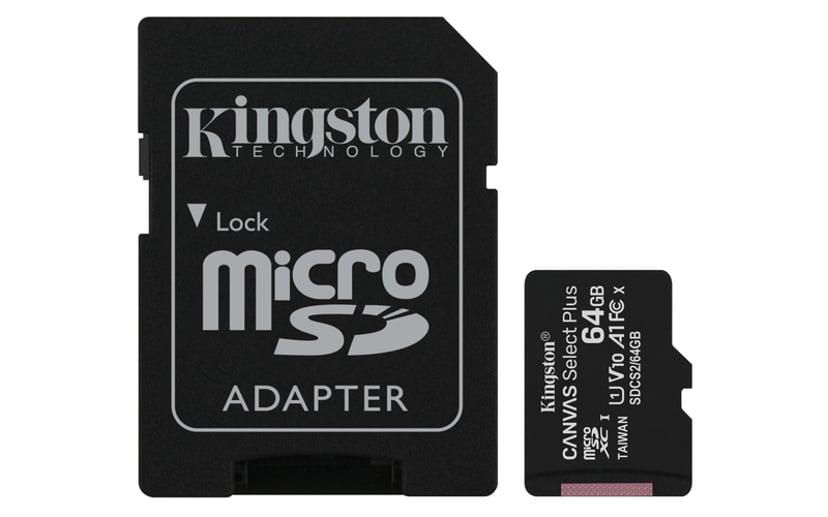 Kingston Canvas Select Plus 64GB mikroSDXC UHS-I minneskort