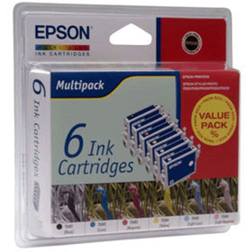 Epson Muste Monipakkaus T0801/2/3/4/5/6 - R265