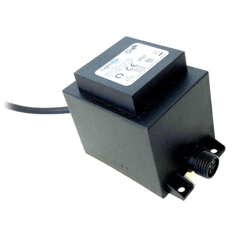 LightsOn Strömadapter 60W 12V 2m Kabel
