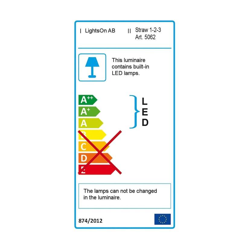 LightsOn Straw 1-2-3 Kolme valaisinta