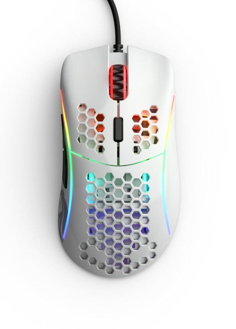 Glorious PC Gaming Race Model D Glossy 12,000dpi Mus Kabelansluten Vit