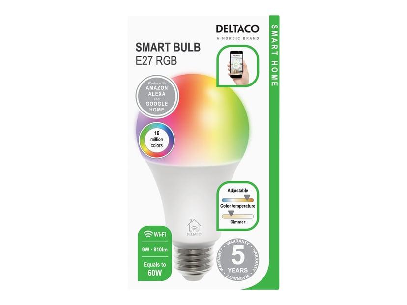 Deltaco Smart Home LED-pære RGB