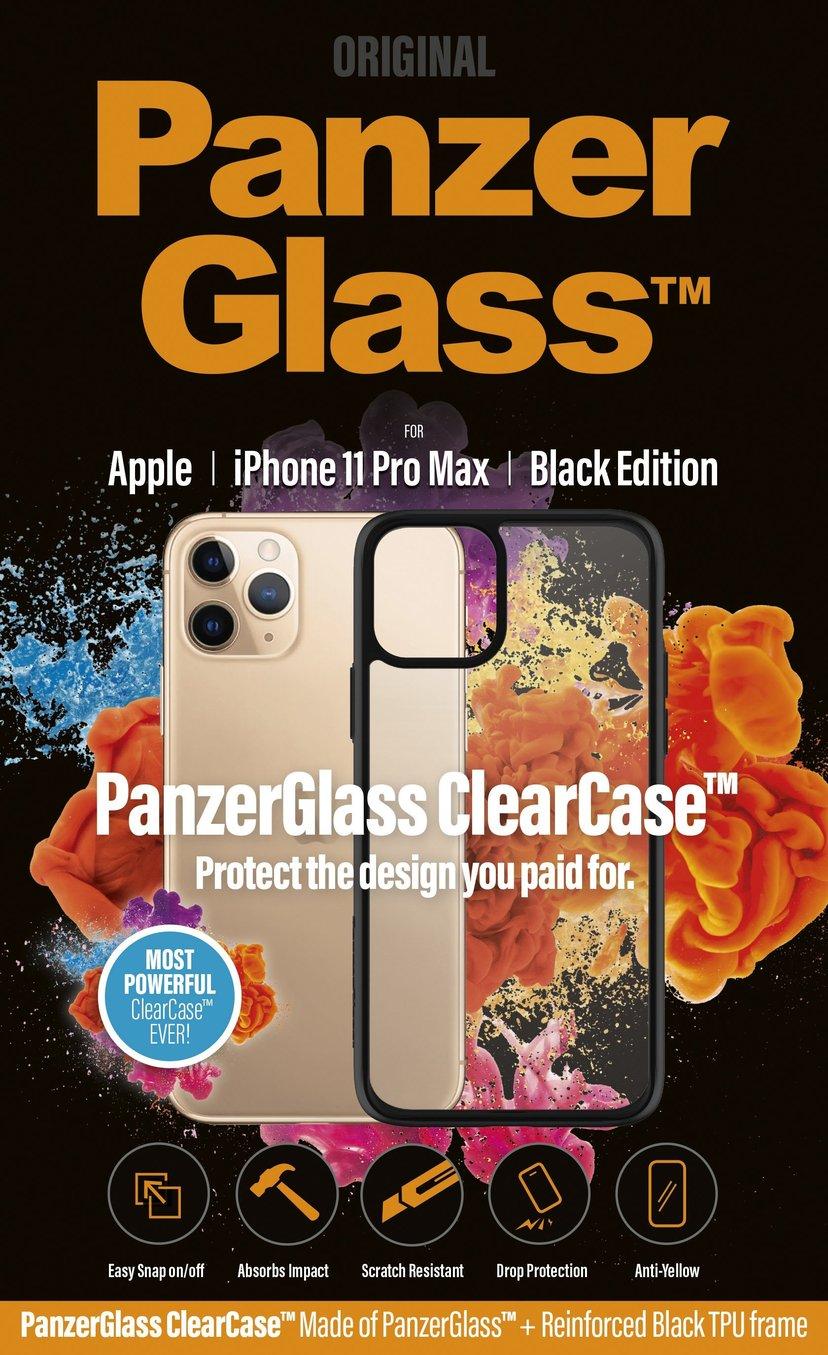 Panzerglass Clearcase BlackFrame iPhone 11 Pro Max Svart