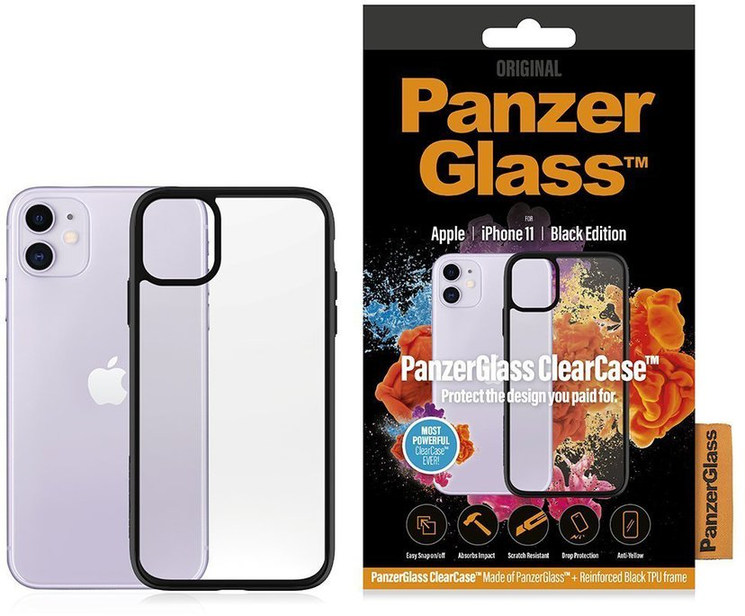 Panzerglass Clearcase BlackFrame iPhone 11 Svart