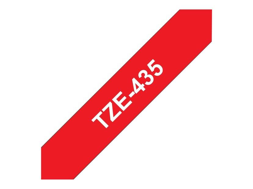 Brother Tape TZE-435 12mm Vit/Röd