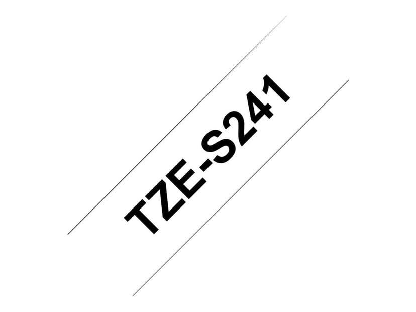 Brother Tape TZe-S241 18mm Svart/Vit Extra Stark