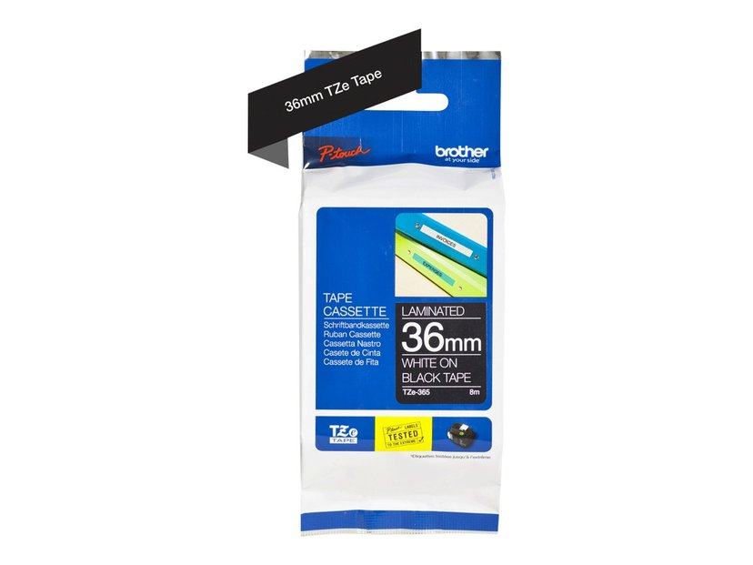 Brother Tape TZe-365 36mm Vit/Svart