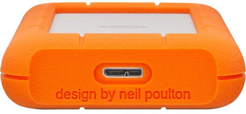 LaCie Rugged Mini Orange, Silver