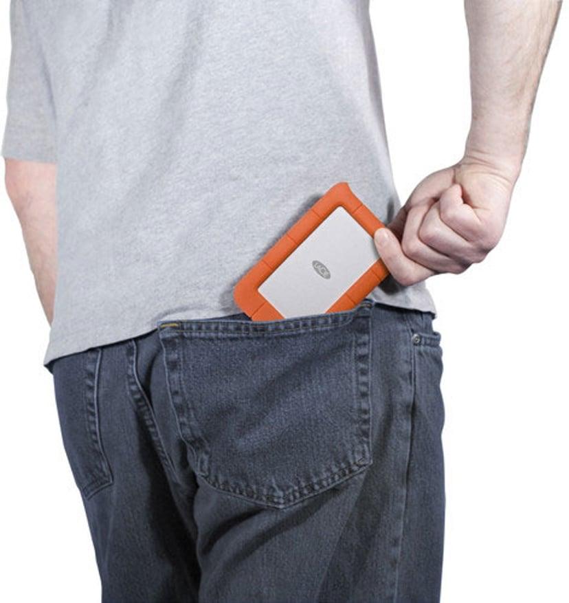 LaCie Rugged Mini 1TB Oransje, Sølv